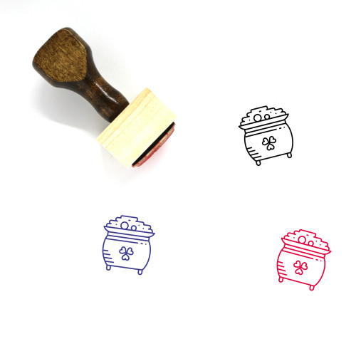 Clover Wooden Rubber Stamp No. 110