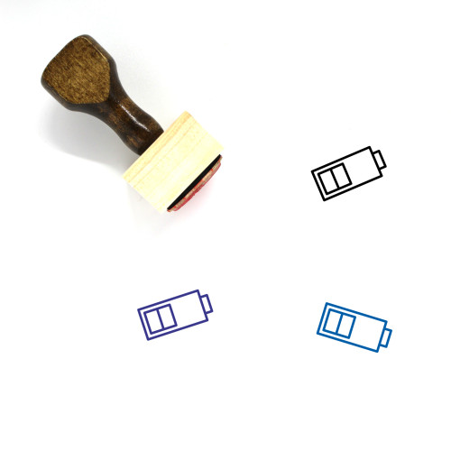 Middle Battery Wooden Rubber Stamp No. 1