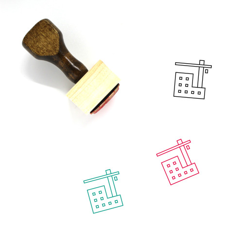 Under Construction Wooden Rubber Stamp No. 12