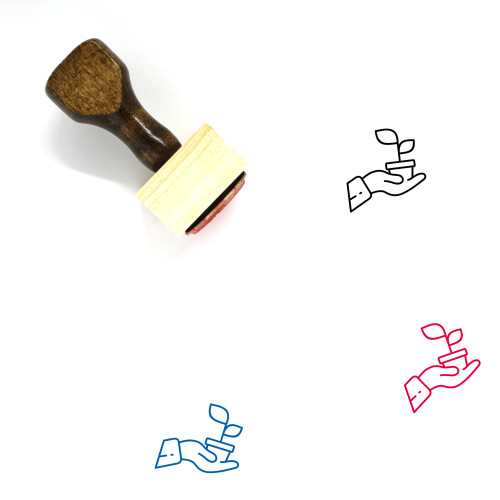 Planting Wooden Rubber Stamp No. 33
