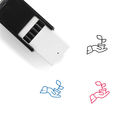 Planting Self-Inking Rubber Stamp No. 33