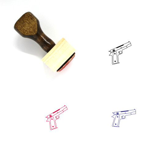 Weapon Wooden Rubber Stamp No. 73