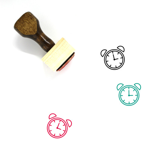 Alarm Wooden Rubber Stamp No. 72