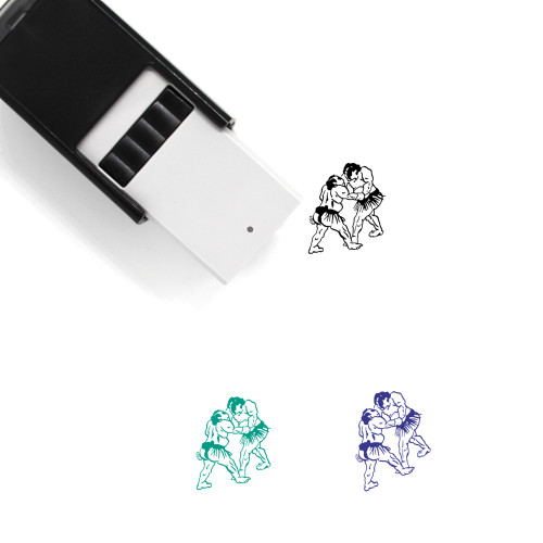 Sumo Fighters Self-Inking Rubber Stamp No. 9