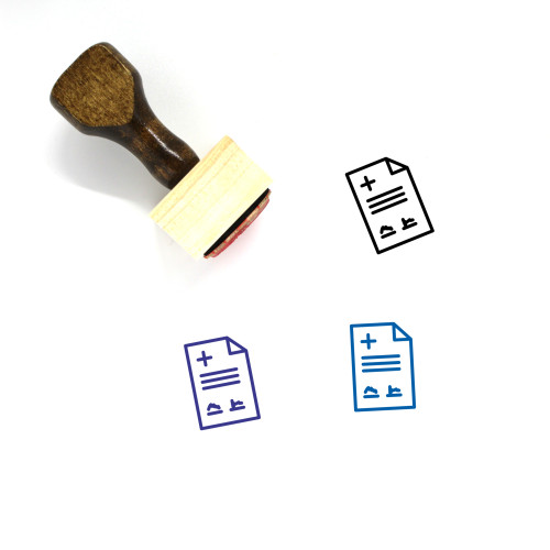 Medical Contract Wooden Rubber Stamp No. 1