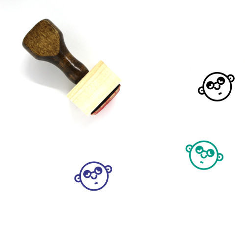 Tired Wooden Rubber Stamp No. 34