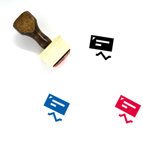 Check Bounce Wooden Rubber Stamp No. 1