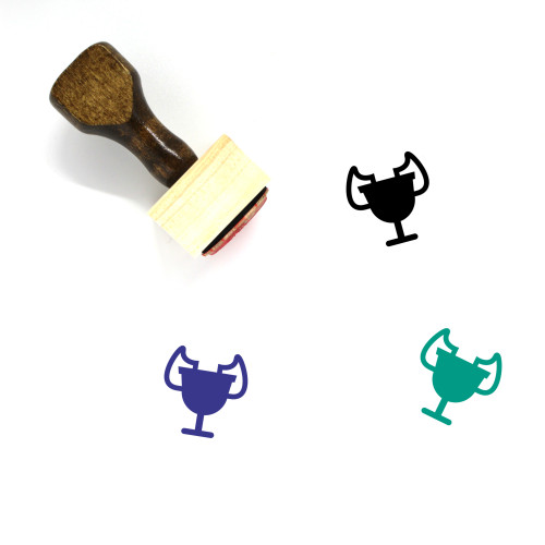 Trophy Wooden Rubber Stamp No. 443