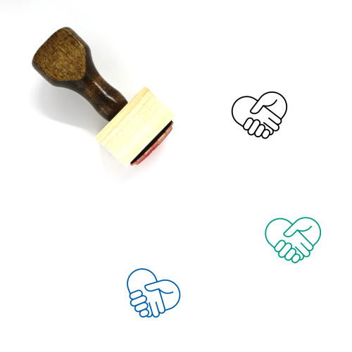 Hand Shake Wooden Rubber Stamp No. 33
