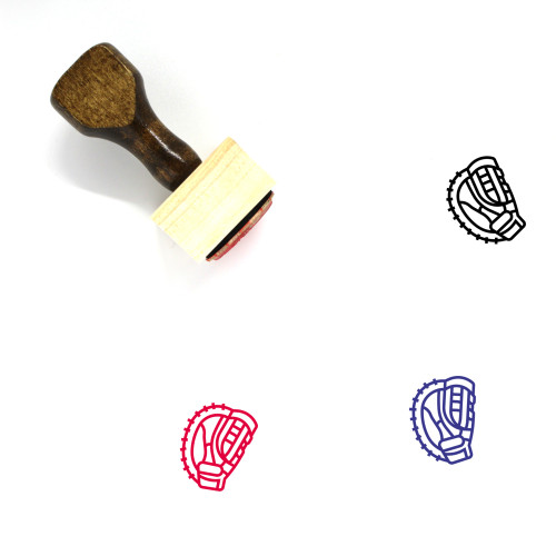 Mitt Wooden Rubber Stamp No. 4