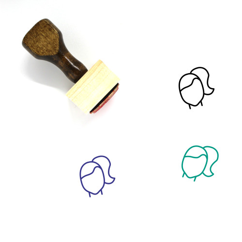 Woman Hairstyle Wooden Rubber Stamp No. 42