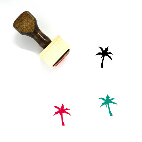 Palm Tree Wooden Rubber Stamp No. 211