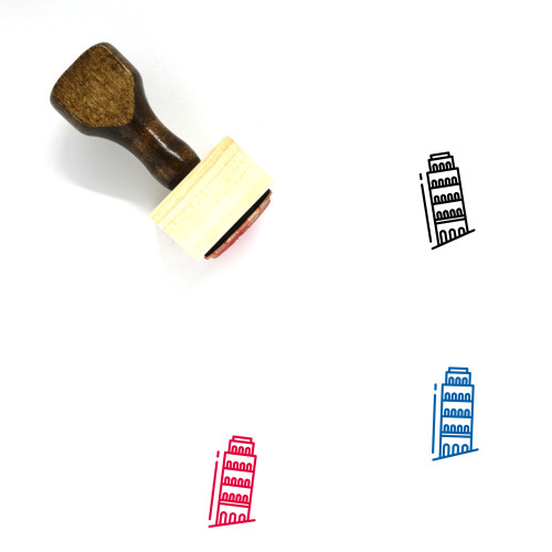 Pisa Tower Wooden Rubber Stamp No. 25