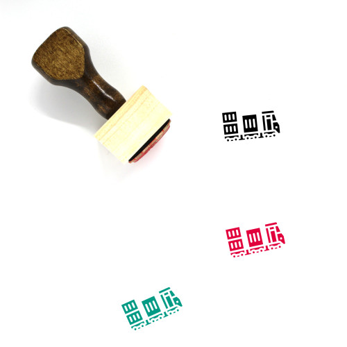 Cargo Wooden Rubber Stamp No. 74