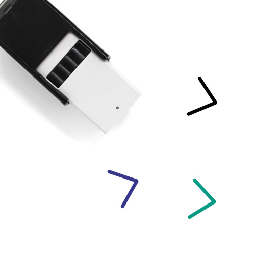 Arrow Right Self-Inking Rubber Stamp No. 40