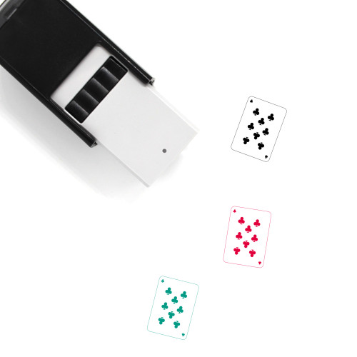 Eight Of Clubs Self-Inking Rubber Stamp No. 2