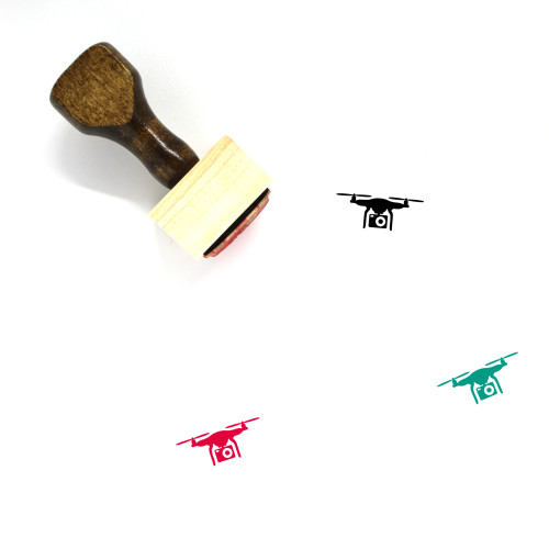 Drone Camera Wooden Rubber Stamp No. 19