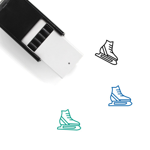Ice Skates Self-Inking Rubber Stamp No. 36
