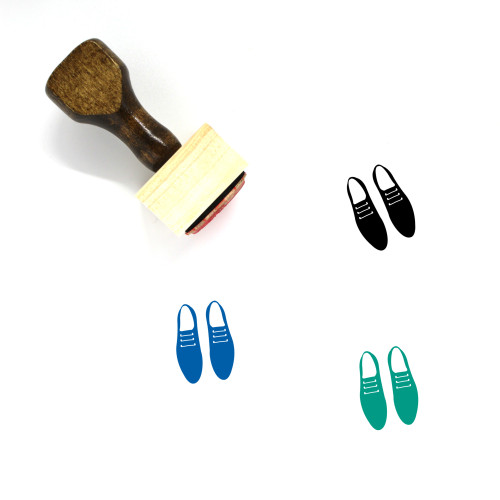 Shoes Wooden Rubber Stamp No. 60