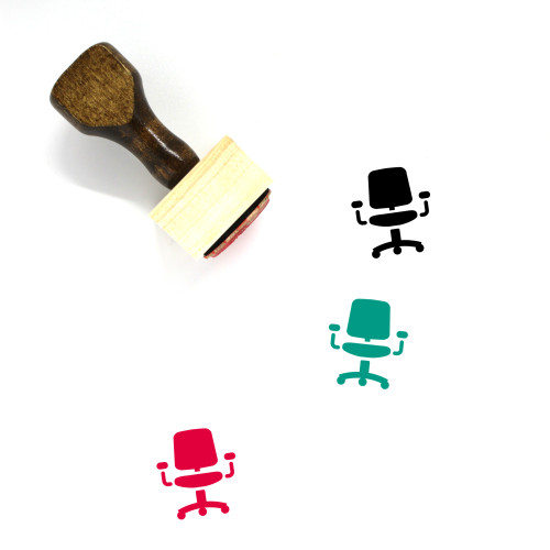 Chair Wooden Rubber Stamp No. 190