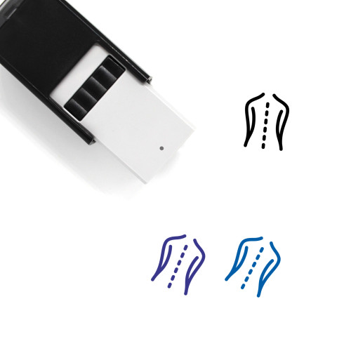 Back Self-Inking Rubber Stamp No. 164
