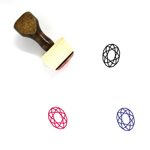Gemstone Wooden Rubber Stamp No. 43