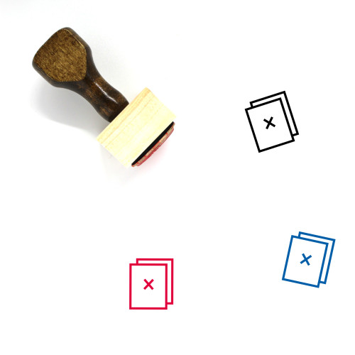Documents Wooden Rubber Stamp No. 131