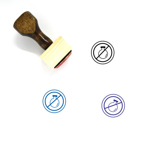 GMO Free Wooden Rubber Stamp No. 1