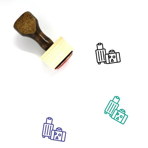 Luggage Wooden Rubber Stamp No. 144