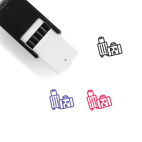 Luggage Self-Inking Rubber Stamp No. 144
