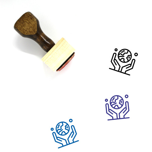 Environment Wooden Rubber Stamp No. 73