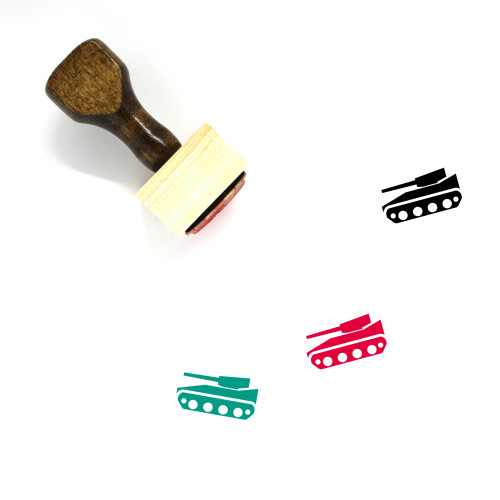 Tank Wooden Rubber Stamp No. 97
