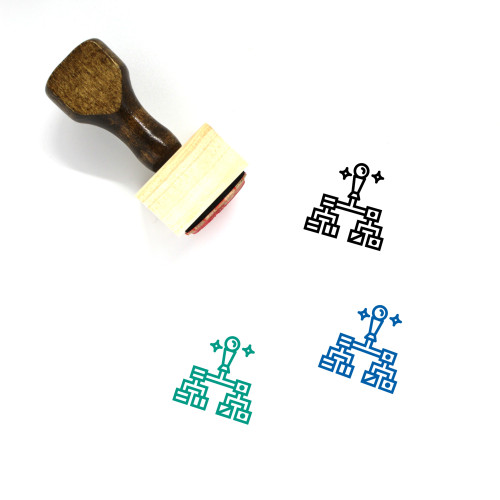 Hierarchical Wooden Rubber Stamp No. 5