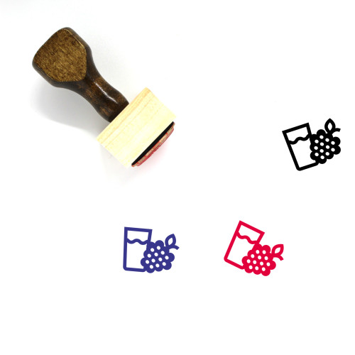Raspberry Wooden Rubber Stamp No. 73