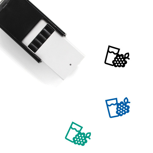 Raspberry Self-Inking Rubber Stamp No. 73