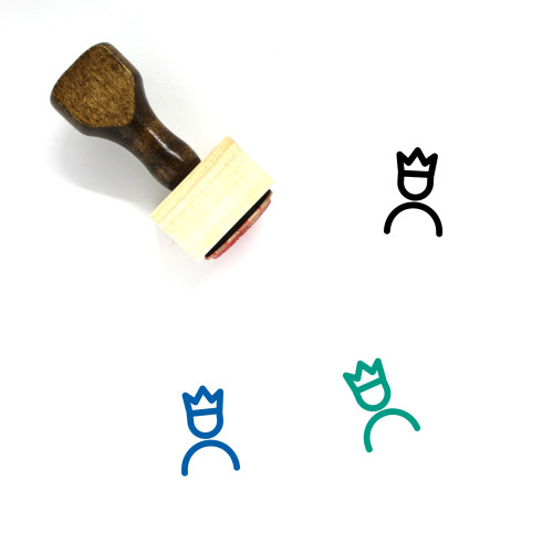 King Wooden Rubber Stamp No. 152