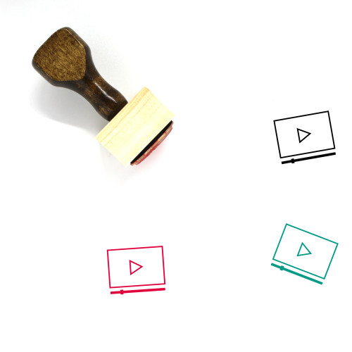 Video Marketing Wooden Rubber Stamp No. 40