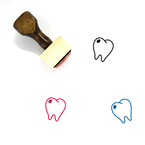 Tooth Wooden Rubber Stamp No. 67