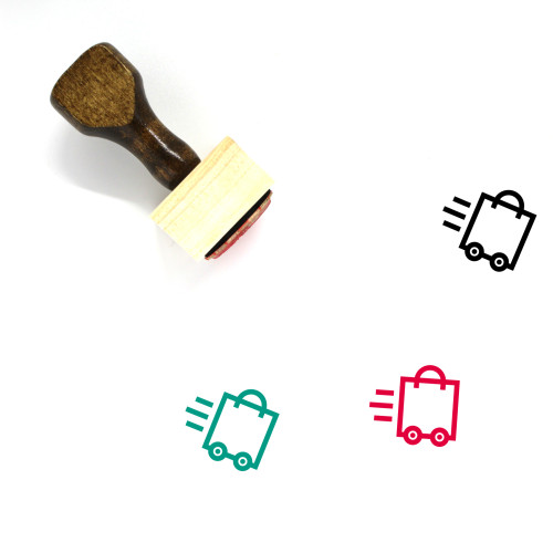 Shopping Bag Wooden Rubber Stamp No. 184