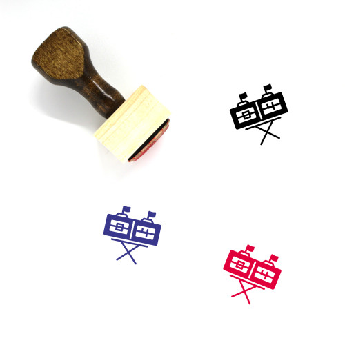 Score Wooden Rubber Stamp No. 11