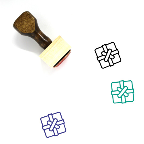 Gift Box Wooden Rubber Stamp No. 47