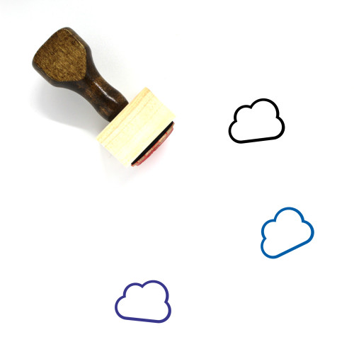Cloud Wooden Rubber Stamp No. 384