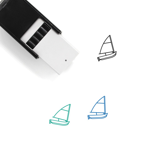 Sailboat Self-Inking Rubber Stamp No. 69
