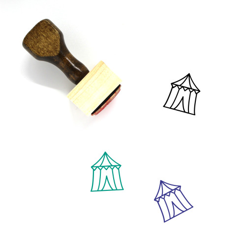 Circus Tent Wooden Rubber Stamp No. 39
