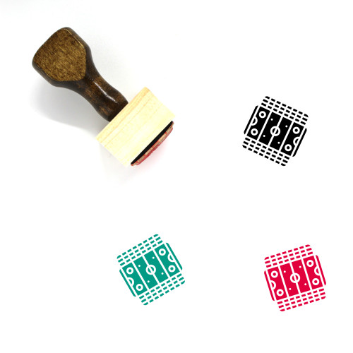 Ice Hockey Wooden Rubber Stamp No. 41