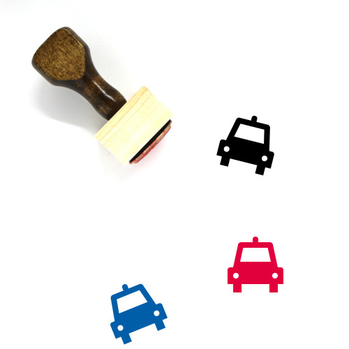 Taxi Wooden Rubber Stamp No. 57