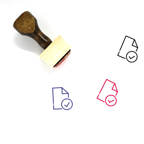 Accept File Wooden Rubber Stamp No. 7