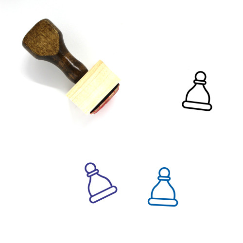 Chess Pawn Wooden Rubber Stamp No. 8