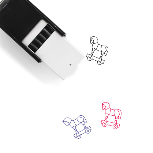 Trojan Horse Self-Inking Rubber Stamp No. 12