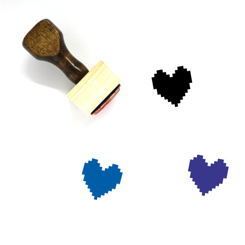 Heart Wooden Rubber Stamp No. 1509